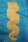 Preview: Echthaar Tressen in #24 Honig BLOND 40 cm Body Wave 100% Organics Echthaar