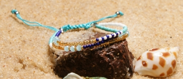 Friendship band purple / turquoise moon girl