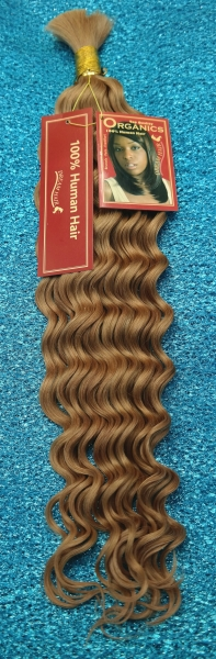 Extentions 100% Echthaar #27 Dunkel-BLOND 50 cm French Bulk   Organics