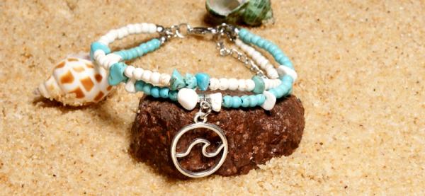 MOON GIRL OM Rune Natural Stone Beaded Anklets Bracelets for Women Bohemian  Vintage Trendy Leg Jewelry Fashion Bracelet Dropship